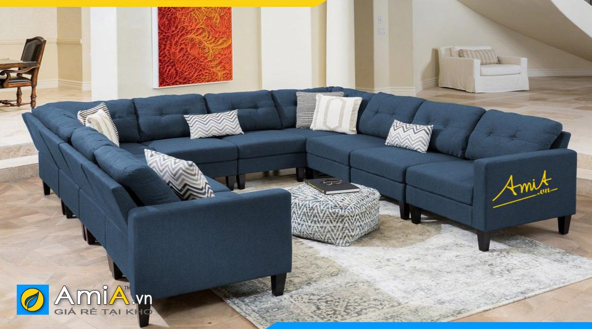 Mẫu ghế sofa góc chữ U cao cấp cho không gian phòng khách rộng