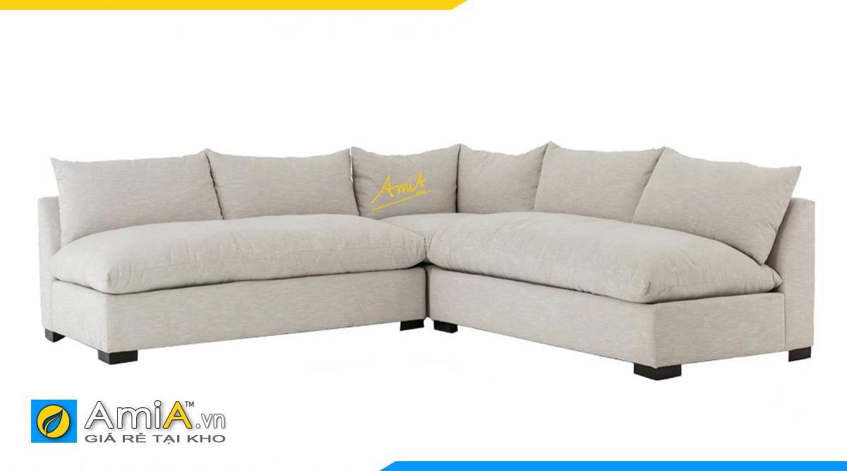 Bộ ghế sofa màu trắng tạo cảm giác thoải mái cho không gian sống