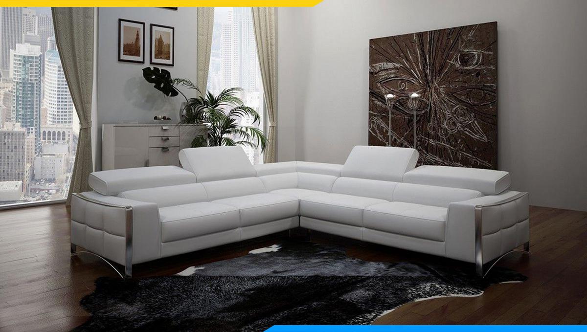Kê sofa góc chữ V cho phòng khách