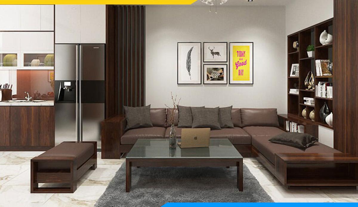 Phòng làm việc lịch sự hơn với bộ ghế sofa góc V