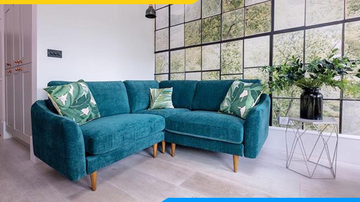 Sảnh chờ lịch sự với bộ ghế sofa góc V hiện đại