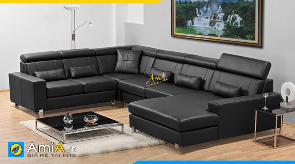 Sofa góc chữ U cho phòng khách rộng