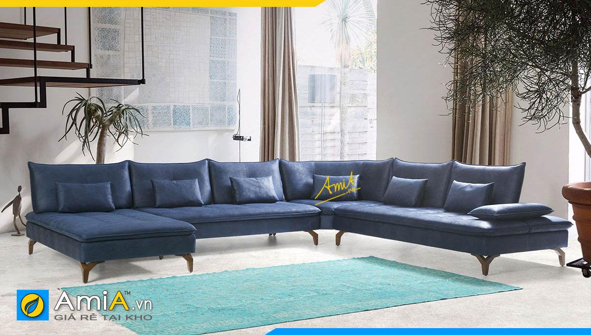 Mẫu sofa góc hiện đại kê biệt thự rộng rãi rất phù hợp