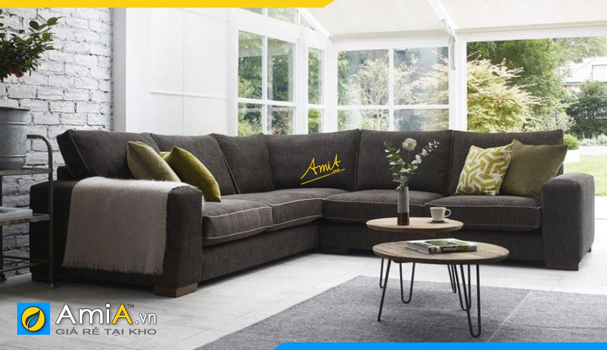 Mẫu sofa kích thước lớn kê tại phòng khách rộng rãi