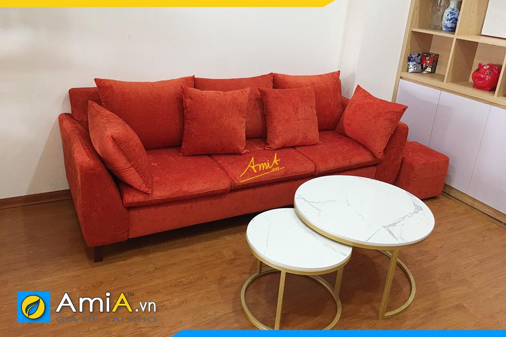 hình ảnh sofa văng chất liệu nỉ nhung đẹp hiện đại