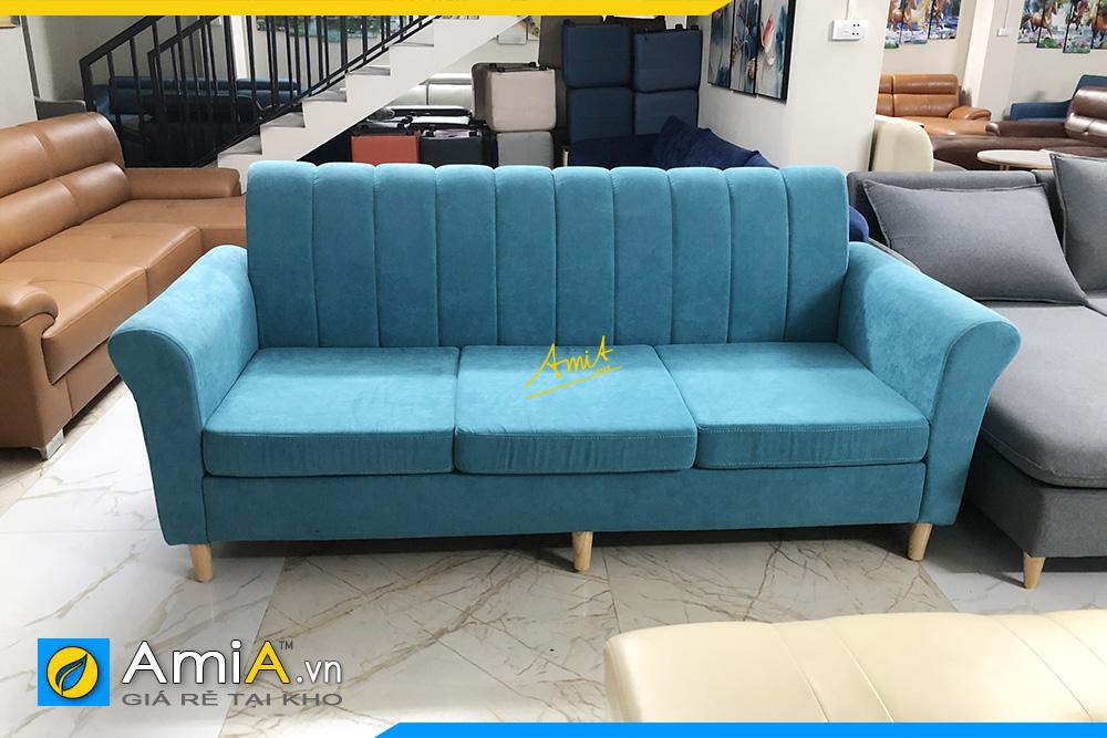 Hình ảnh ghế sofa văng 3 chỗ ngồi bọc vải nỉ cực đẹp kê phòng khách cực chuẩn