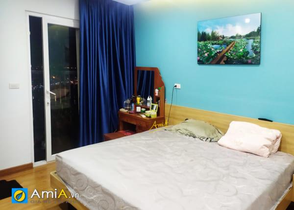 Hình ảnh Tranh đẹp phong cảnh hồ sen trang trí phòng ngủ mã 1343