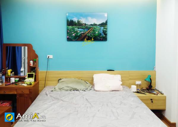 Hình ảnh Tranh phong cảnh hồ sen treo tường đẹp cho phòng ngủ mã 1343