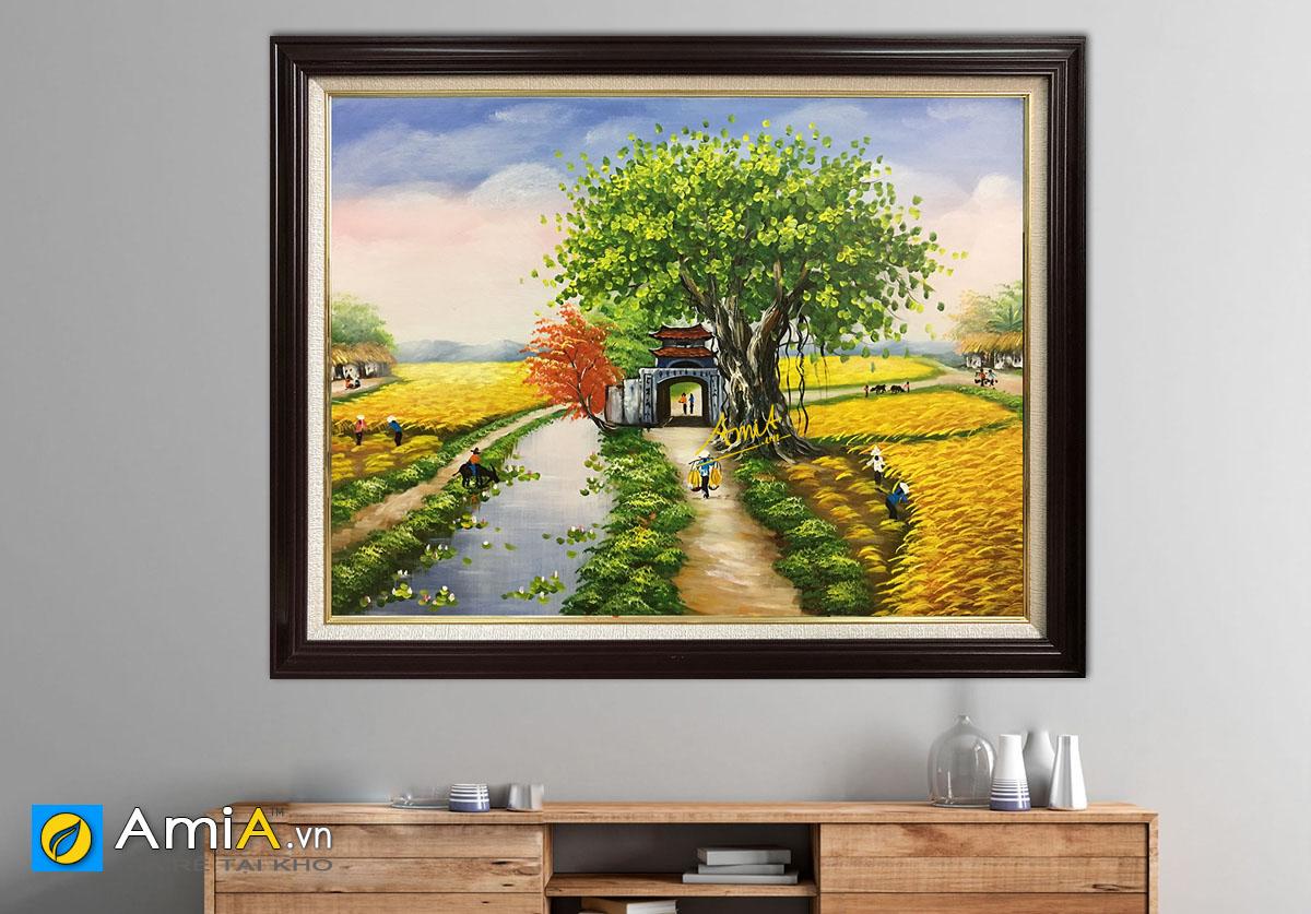 Hình ảnh Tranh phong cảnh treo tường làng quê Việt Nam mã TSD 362b