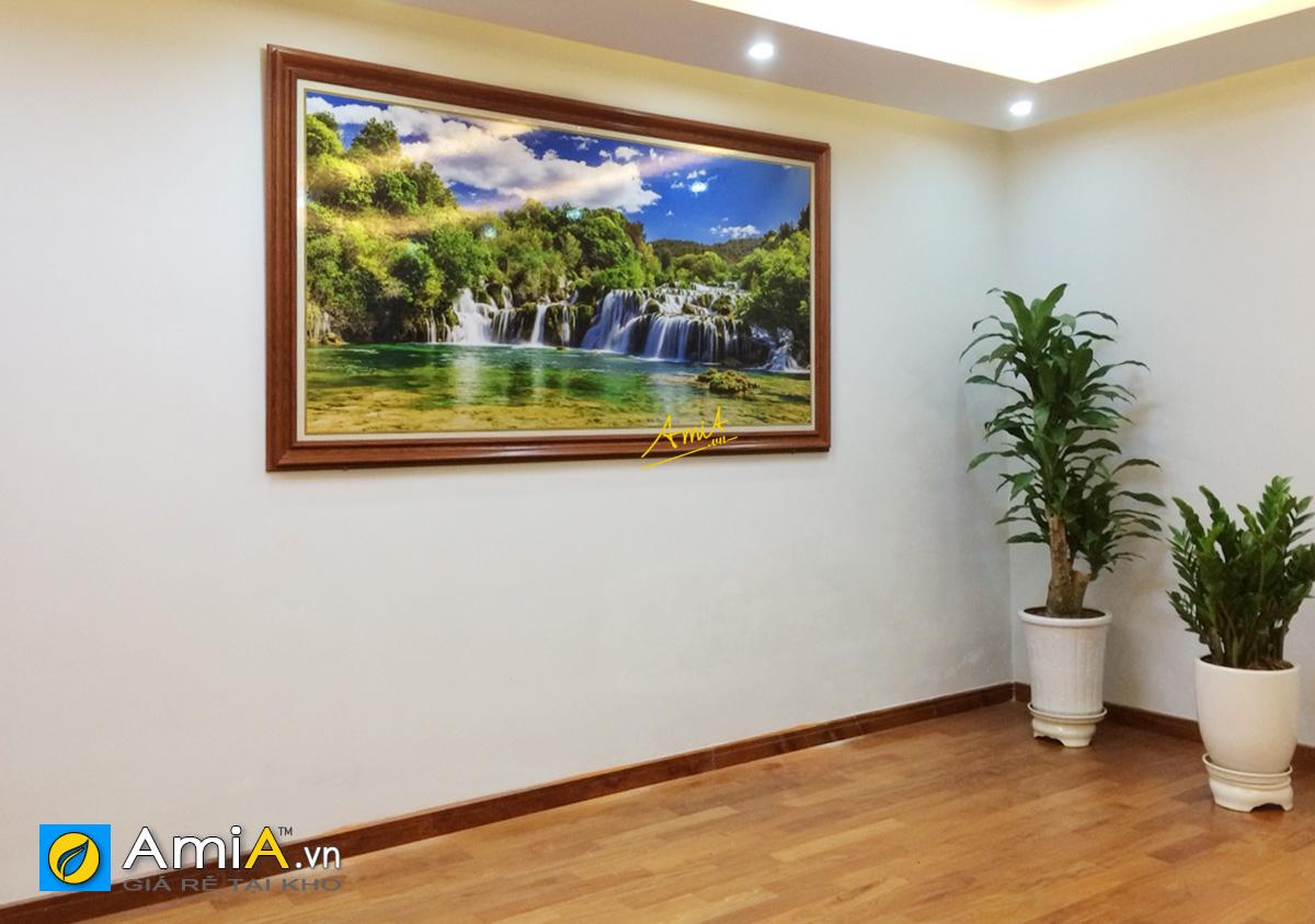 Hình ảnh Tranh phong thủy thác nước treo tường đẹp sang trọng