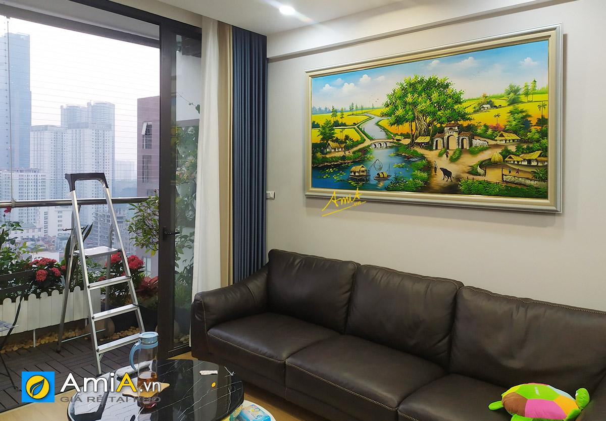 Hình ảnh Tranh sơn dầu làng quê Việt Nam cho nhà chung cư mã TSD 433