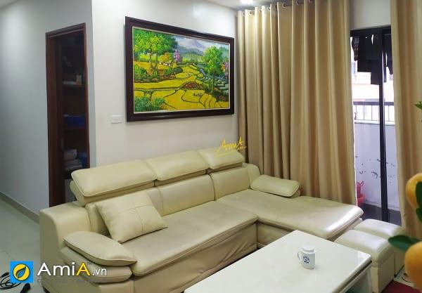 Hình ảnh Tranh sơn dầu làng quê Việt Nam treo phòng khách chung cư mã TSD 562