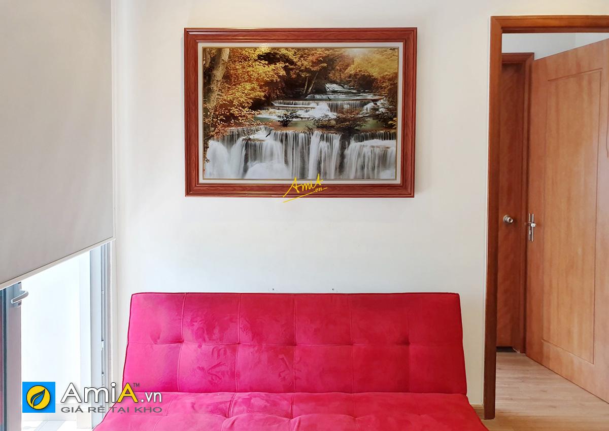 Hình ảnh Tranh thác nước treo tường đẹp hiện đại cho phòng khách