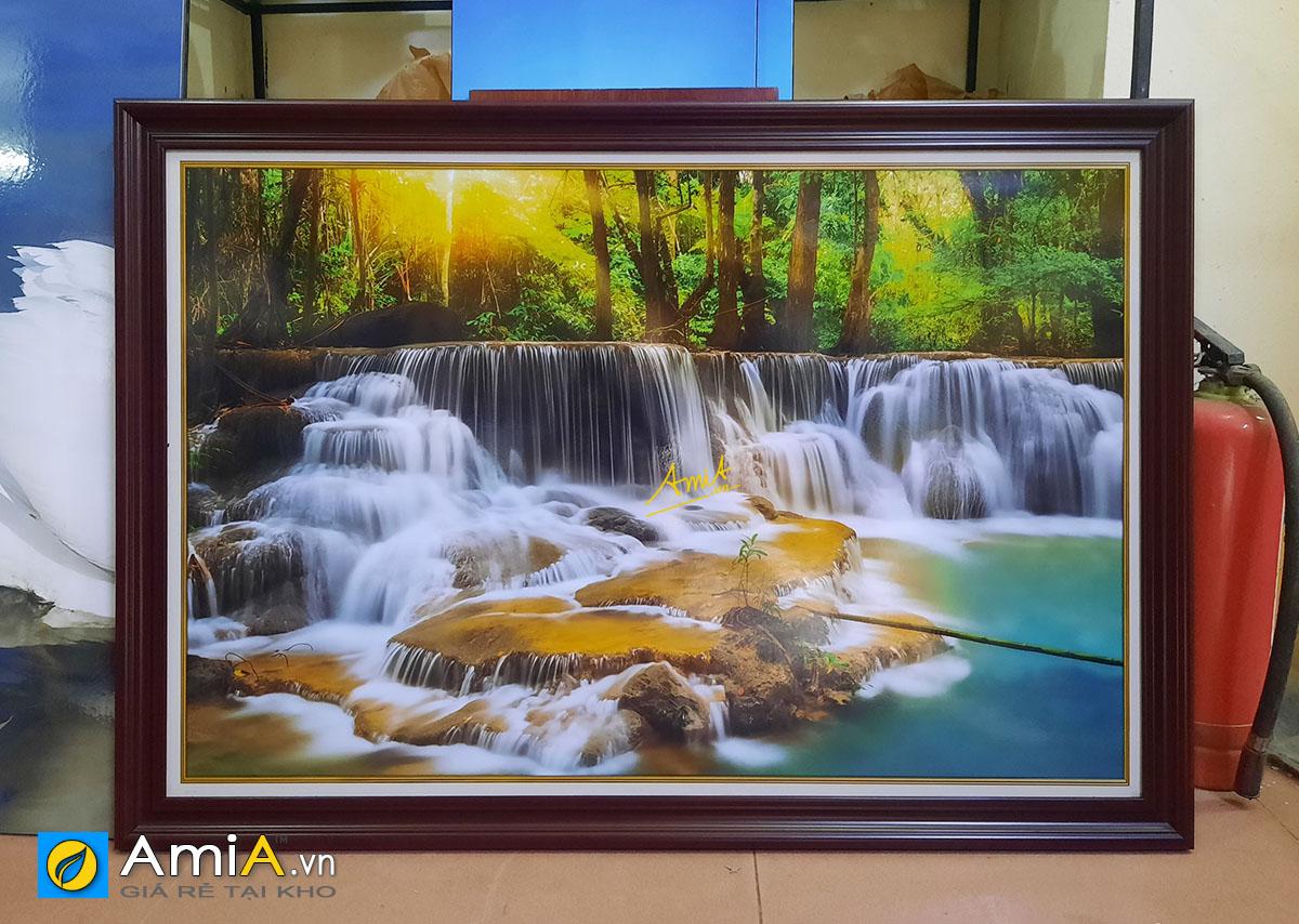 Hình ảnh Tranh thác nước treo tường đẹp ý nghĩa phong thủy mã 363