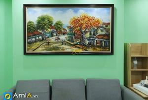 Hình ảnh Tranh treo phòng khách đẹp phố cổ Hà Nội mã tsd 371