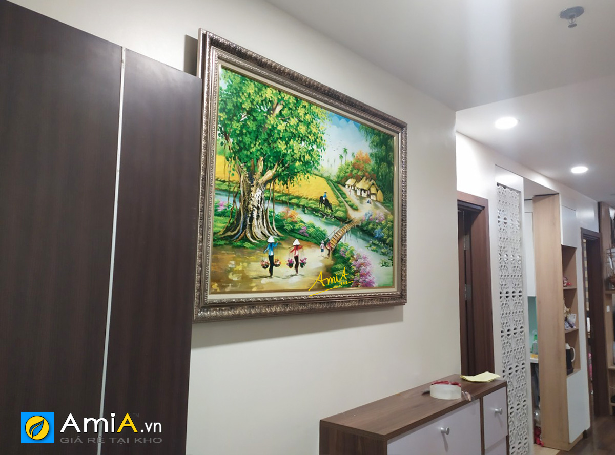 Hình ảnh Tranh treo tường phong cảnh làng quê Việt Nam đẹp mã TSD 517