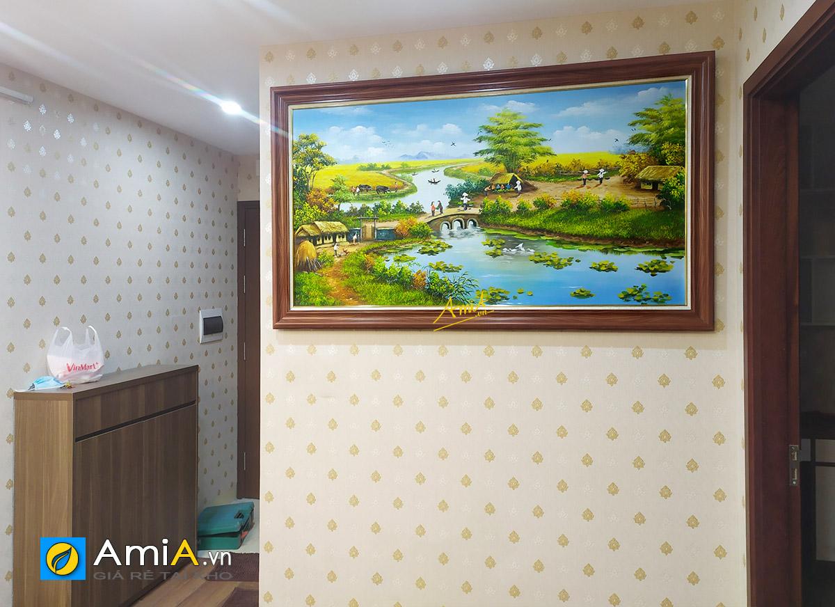 Hình ảnh Tranh treo tường phong cảnh làng quê Việt Nam TSD 555