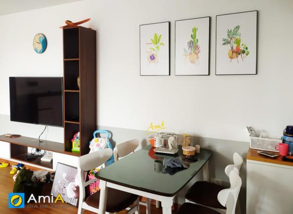Hình ảnh Bộ tranh canvas đẹp hiện đại trang trí phòng ăn bàn ăn đẹp mã 4256