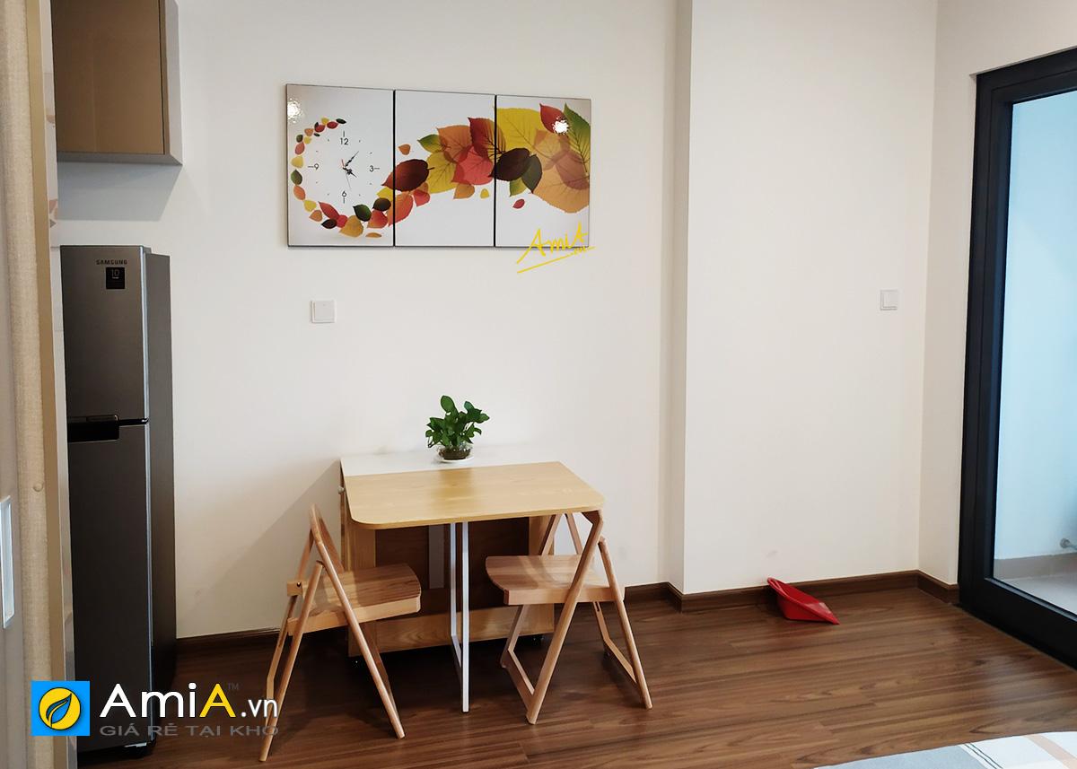 Hình ảnh Bộ tranh trang trí phòng ăn đẹp hiện đại ghép bộ 3 tấm mã 1428