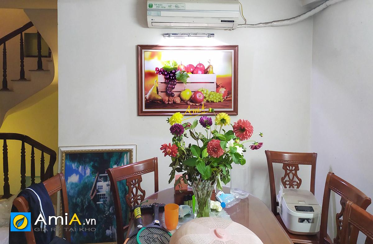Hình ảnh Bức tranh giỏ trái cây in ép gỗ 1 tấm đẹp giá rẻ chỉ 380k mã 2046