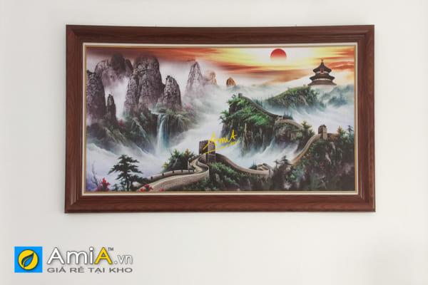 Hình ảnh Bức tranh Vạn Lý Trường Thành treo tường phòng làm việc người Trung Quốc