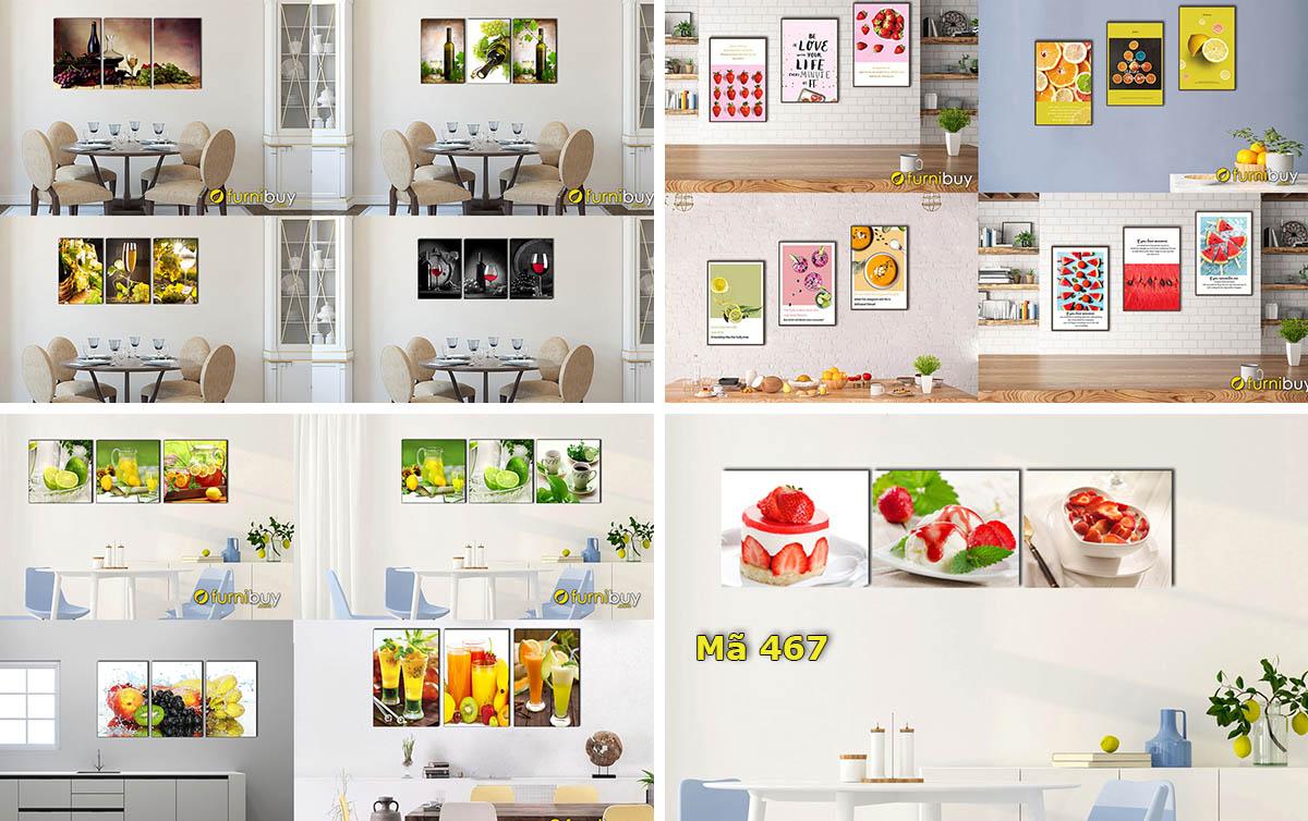 Hình ảnh Các mẫu tranh đẹp treo phòng ăn phòng bếp giá rẻ với nhiều chất liệu