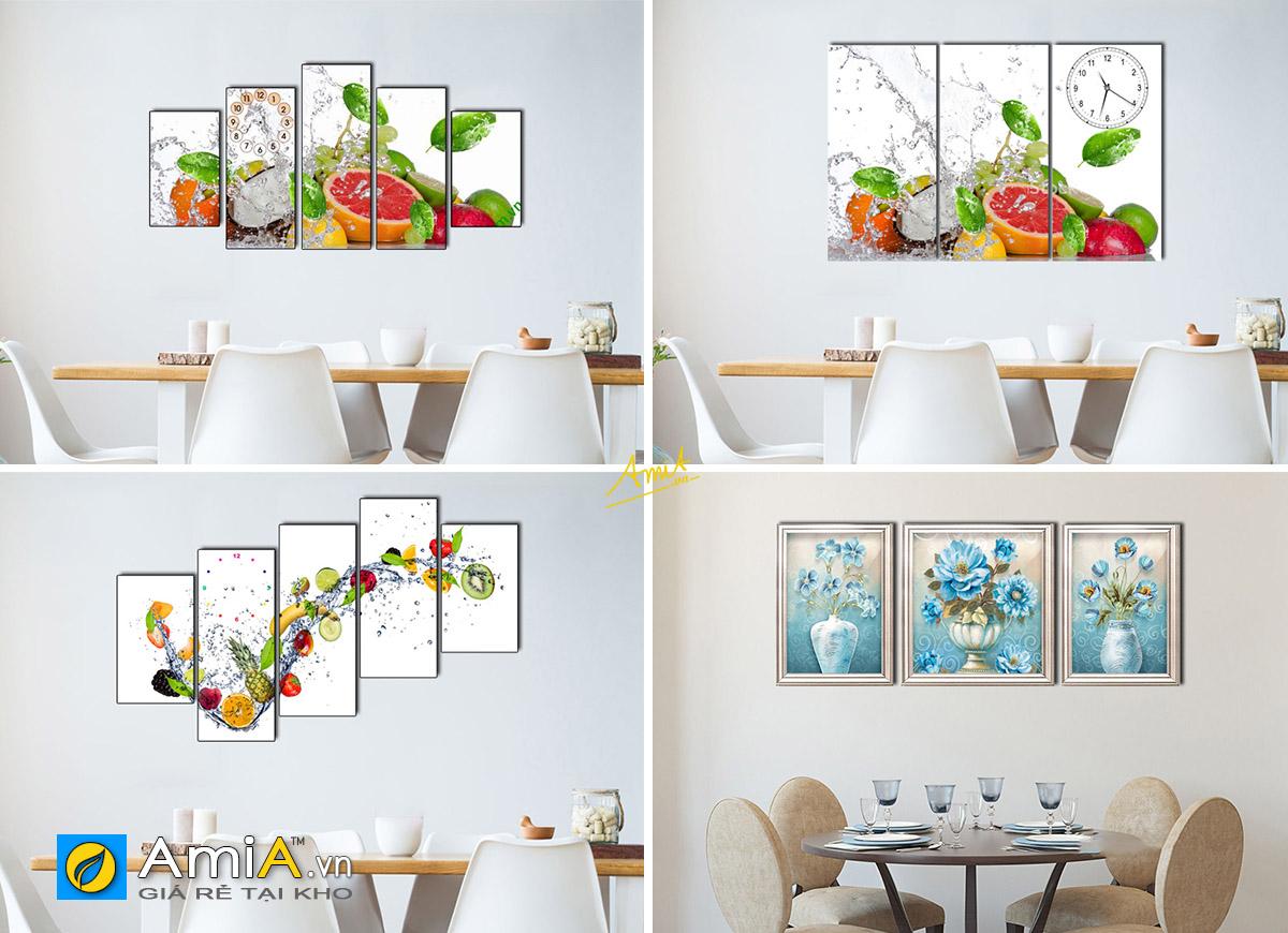Hình ảnh Các mẫu tranh in ép gỗ treo phòng ăn giá dưới 2 triệu đẹp hiện đại