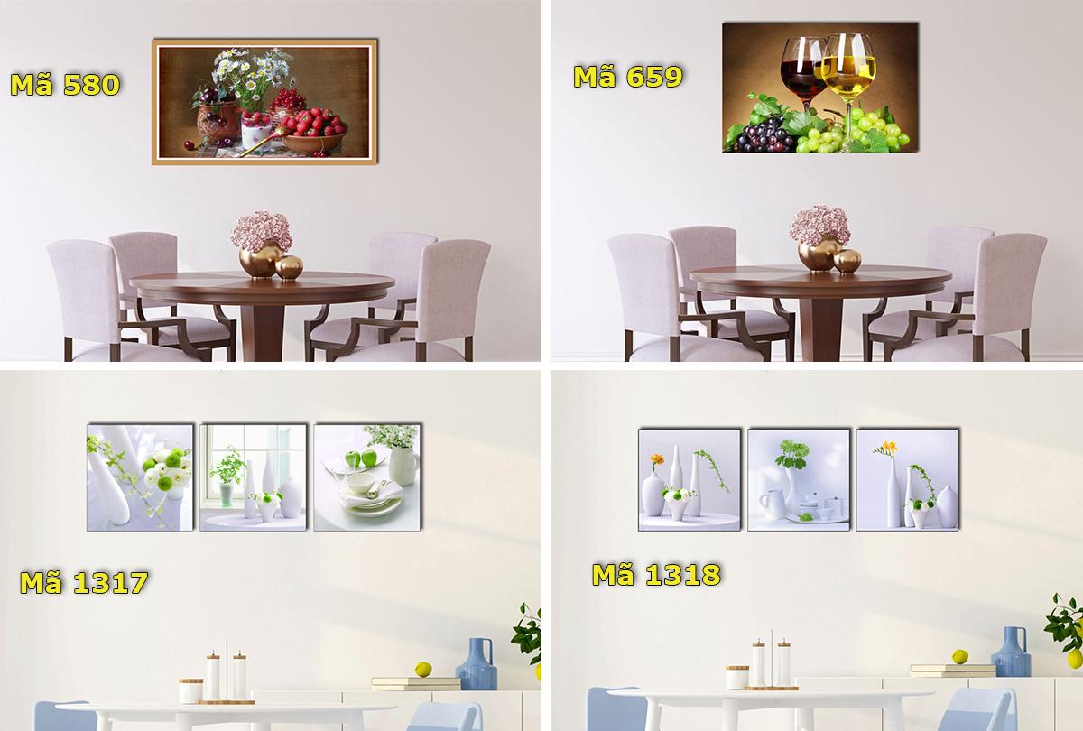 Hình ảnh Các mẫu tranh trang trí phòng ăn đẹp giá rẻ dưới 1 triệu đồng