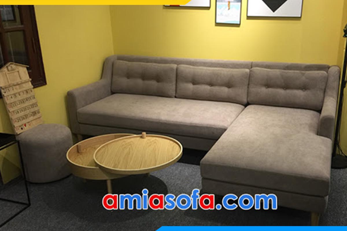 Bộ sofa góc vải nỉ kê không gian phòng trà lịch sự, sang trọng nhất