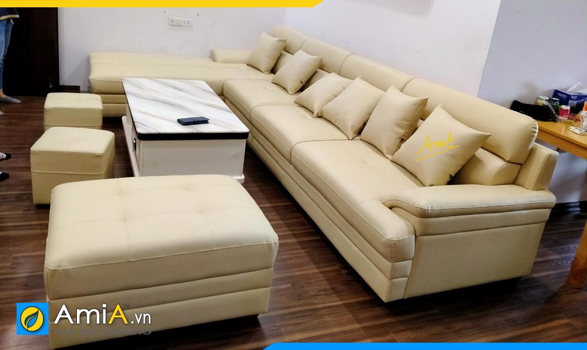 Bộ ghế sofa màu kem hợp phong thủy mệnh Kim
