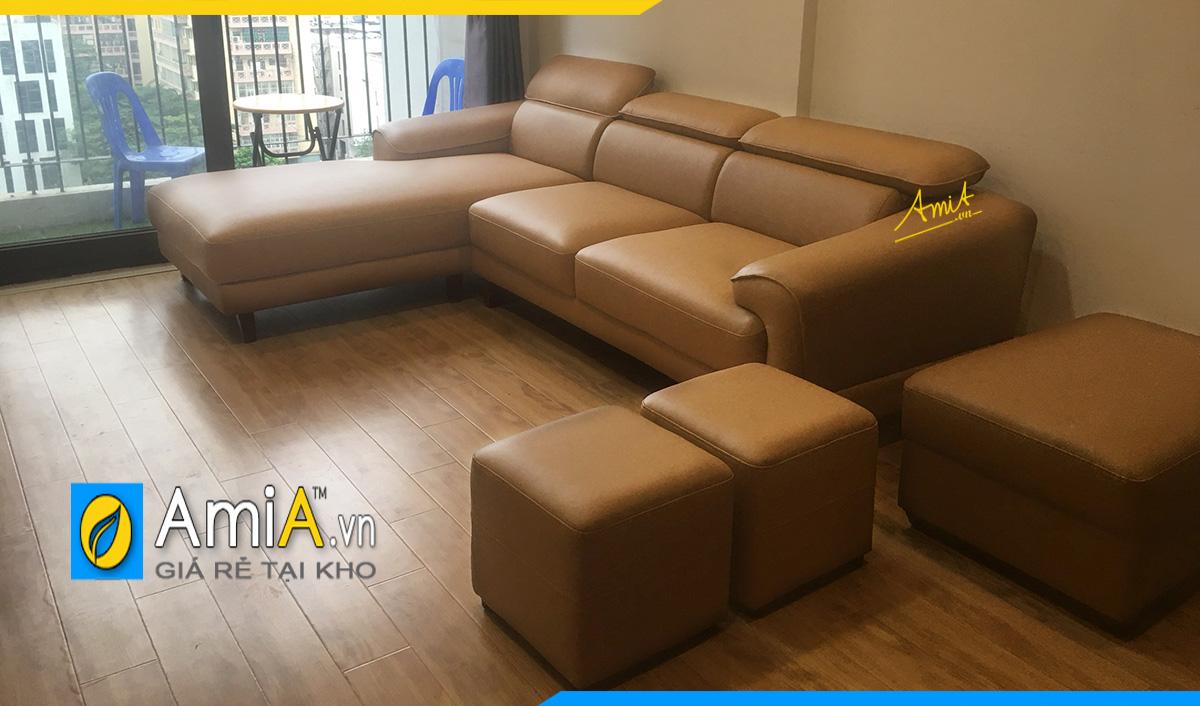Chọn màu sofa góc hợp phong thủy mệnh Thổ với màu nâu đất đặc trưng