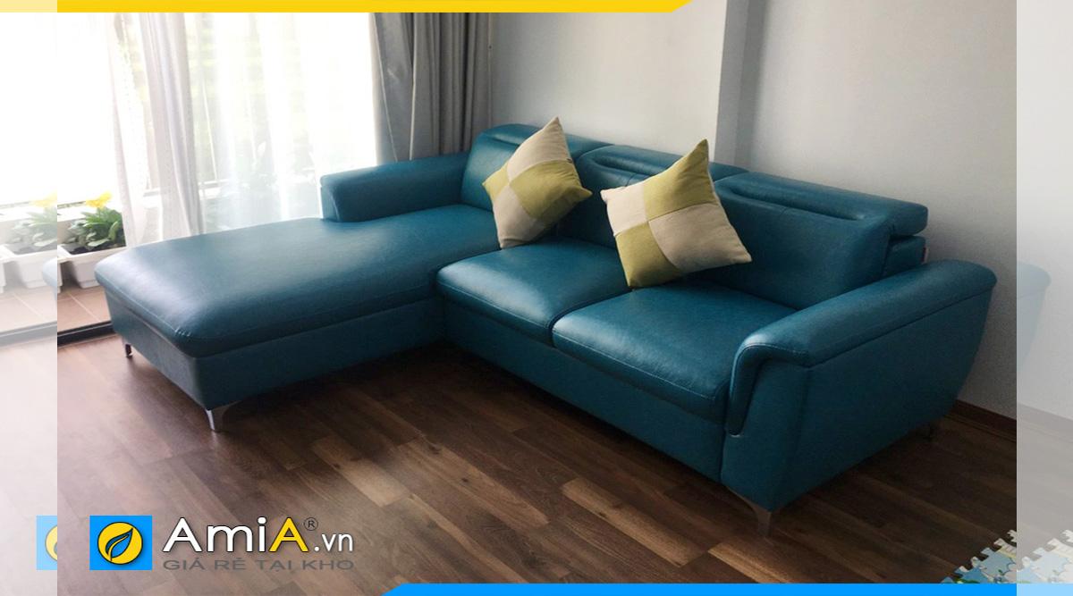Mệnh Thủy nên chọn chiếc ghế sofa góc màu xanh biển
