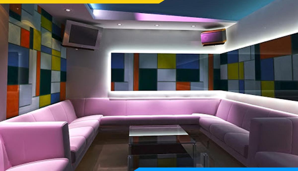 Sofa hiện đại phòng hát với màu sắc nhã nhặn, đẹp mắt