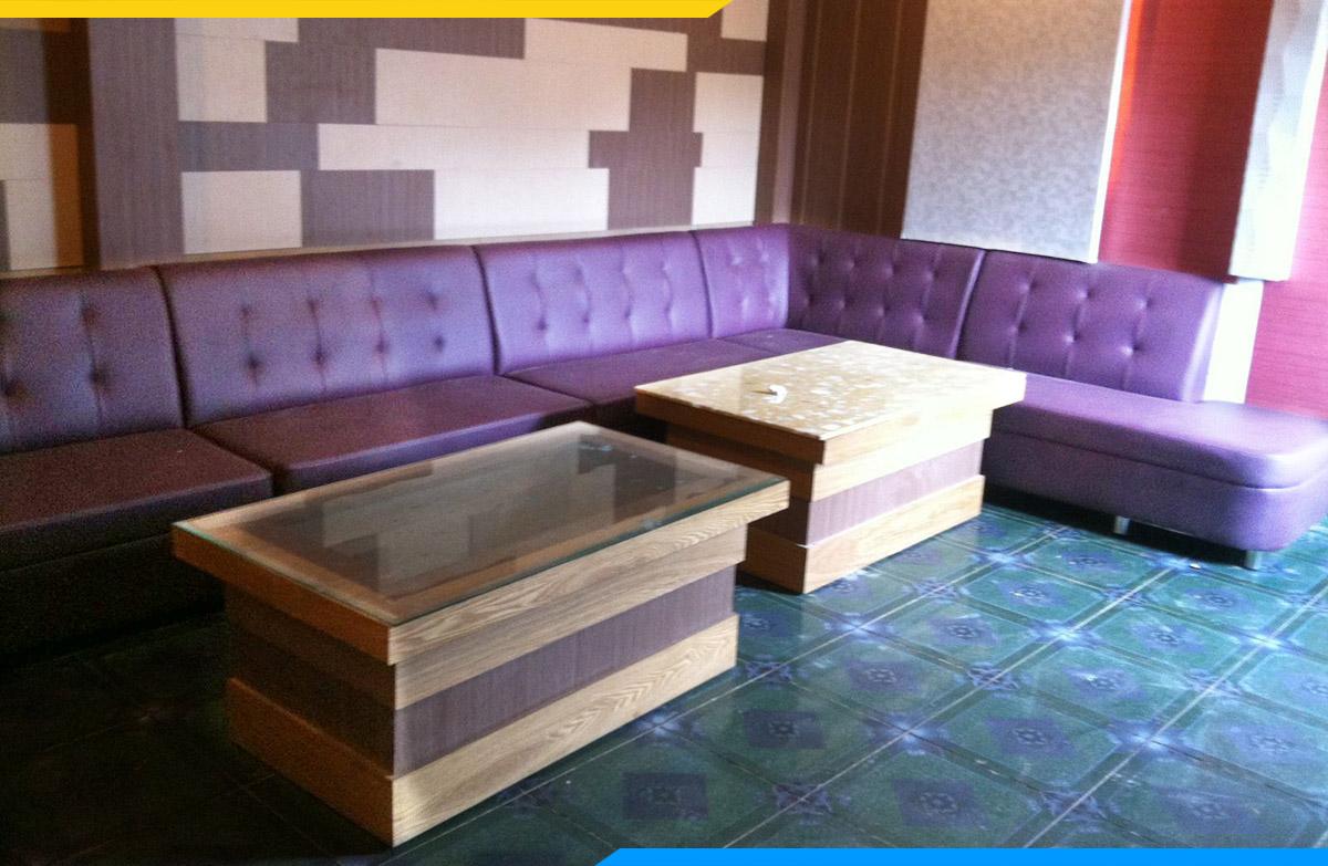 Phong cách tân cổ điển của ghế sofa góc dành cho phòng hát