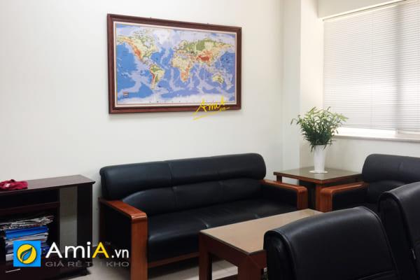 Hình ảnh Tranh bản đồ treo phòng giám đốc khu vực tiếp khách đẹp sang trọng