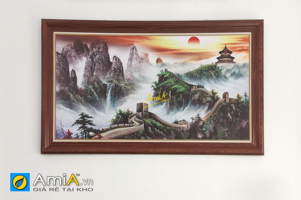 Hình ảnh Tranh phong cảnh núi cao Vạn Lý Trường Thành treo phòng giám đốc Trung Quốc