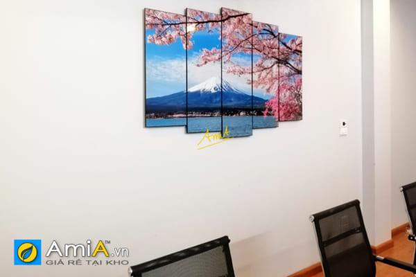 Hình ảnh Tranh phong cảnh núi phú sĩ treo phòng họp với người Nhật Bản AmiA 1429