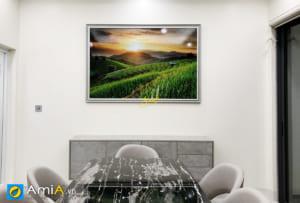 Hình ảnh Tranh phong cảnh ruộng bậc thang trang trí bàn ăn đẹp hiện đại mã ist 181683431