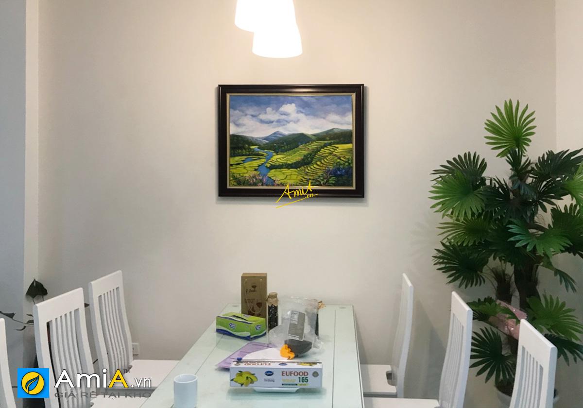 Hình ảnh Tranh phong cảnh ruộng bậc thang trang trí đẹp khu vực bàn ăn mã tsd 396