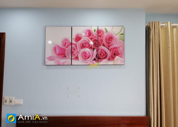 Hình ảnh Tranh phòng ngủ vợ chồng chủ đề hoa hồng tình yêu mã 452