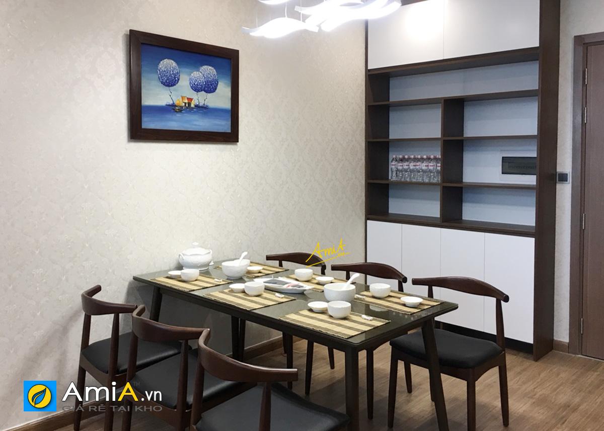 Hình ảnh Tranh sơn dầu 1 tấm khổ nhỏ treo tường phòng ăn nhà bếp đẹp