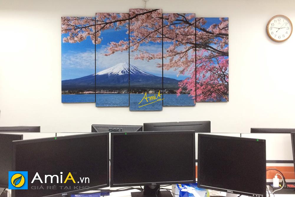 Hình ảnh Tranh trang trí văn phòng làm việc người Nhật Bản mã AmiA 1429