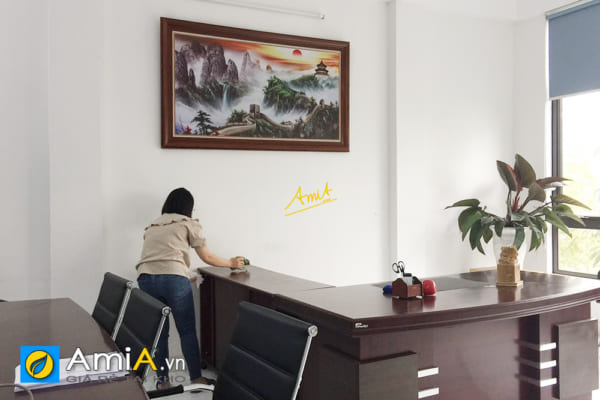 Hình ảnh Tranh treo phòng Sếp Trung Quốc chủ đề Vạn Lý Trường Thành
