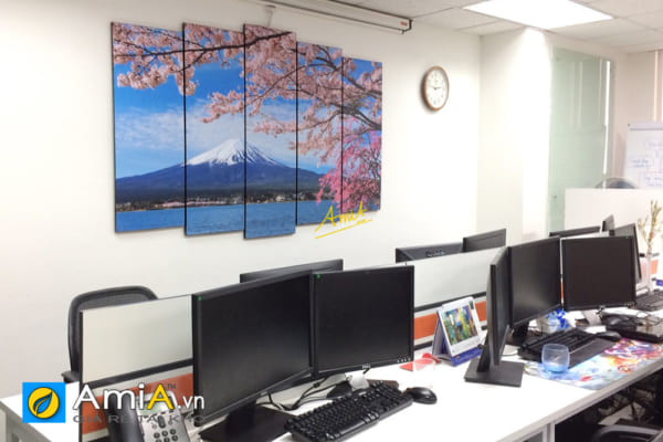 Hình ảnh Tranh treo tường phòng giám đốc Nhật Bản đẹp núi Phú Sĩ AmiA 1429