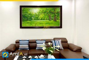 Hình ảnh Tranh treo tường phòng giám đốc phong cảnh rừng cây AmiA TSD 591