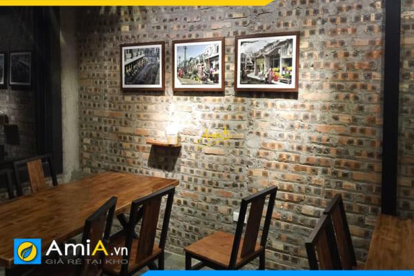 Hình ảnh Bộ tranh đen trắng ghép 3 tấm cho quán cafe đẹp