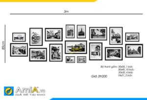 Hình ảnh Bộ tranh treo quán cafe đẹp chủ đề tranh đen trắng mã AmiA 9998