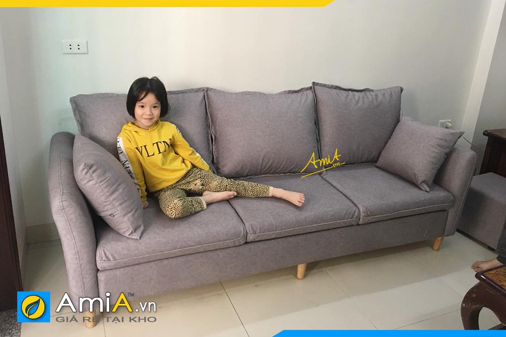 hình ảnh sofa văng nỉ 3 chỗ ngồi cho phòng khách chung cư
