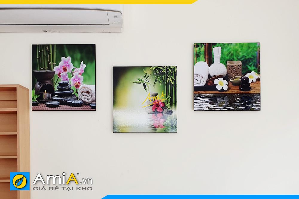 Hình ảnh Các mẫu tranh spa hoa nến đẹp hiện đại treo tường spa thẩm mỹ viện