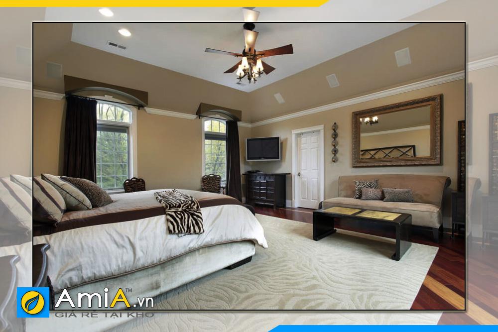 hình ảnh mẫu ghế sofa văng nỉ không tay vịn cho phòng ngủ